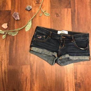 Hollister   Dark Wash Denim Shorts